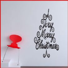 A Very Merry Christmas Tree ~ Wall sticker / decals